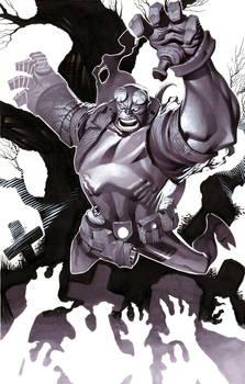 Hellboy- Marker Illo