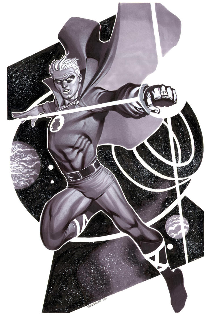 Green Lantern- Marker Illo by ChristopherStevens