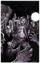 Zombie Attack- Marker Illo by ChristopherStevens