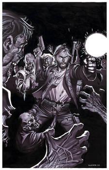 Zombie Attack- Marker Illo