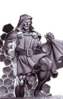 Doctor Doom- Marker Illo by ChristopherStevens