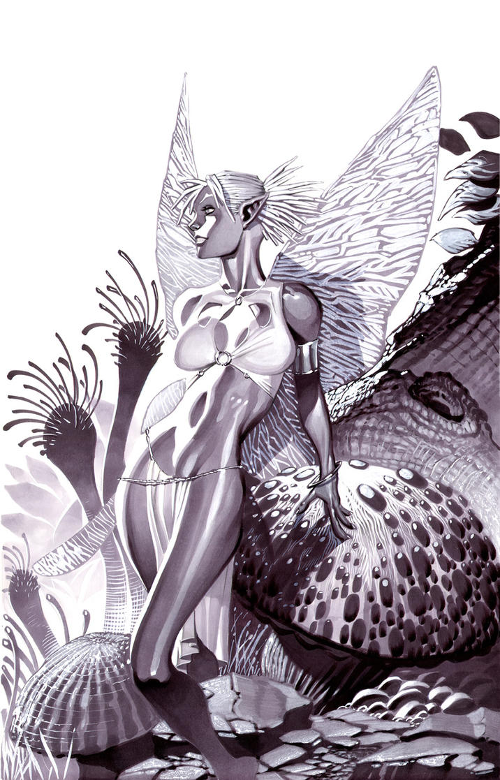 Frost Faerie- Marker Illo by ChristopherStevens
