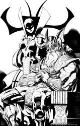 Odin and Hela by ChristopherStevens