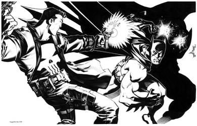 Punisher VS Batman by ChristopherStevens