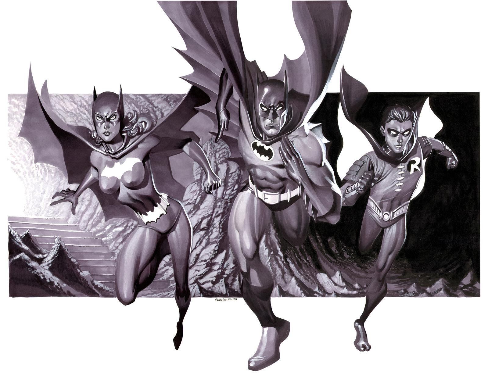 Bat Family- Marker Illo