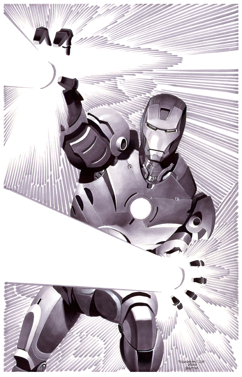 Iron Man- Marker Illo by ChristopherStevens