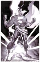 Captain Marvel- Marker Illo by ChristopherStevens