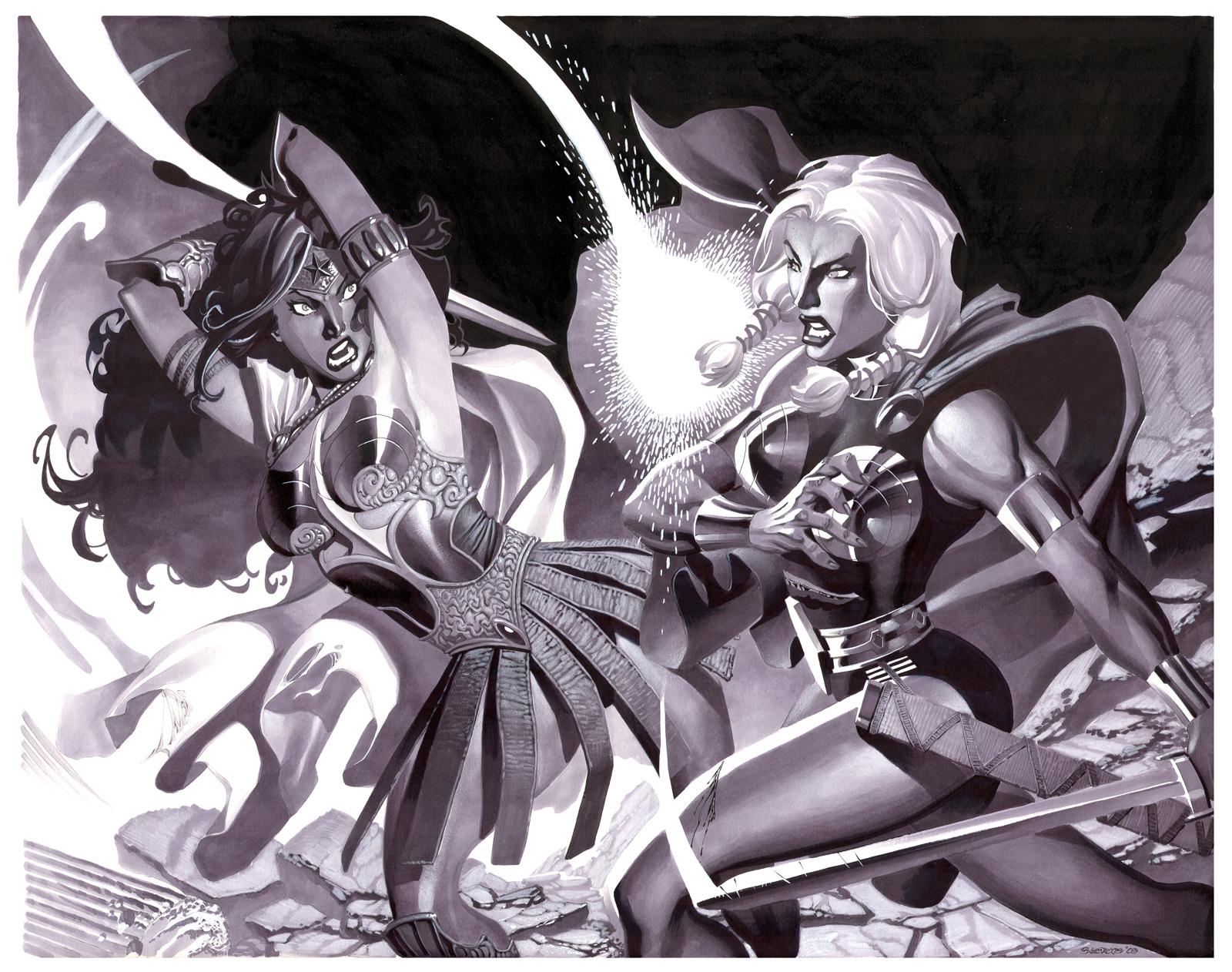 Wonder Woman VS Valkyrie by ChristopherStevens