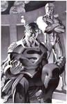 Superboy and Luthor- Marker