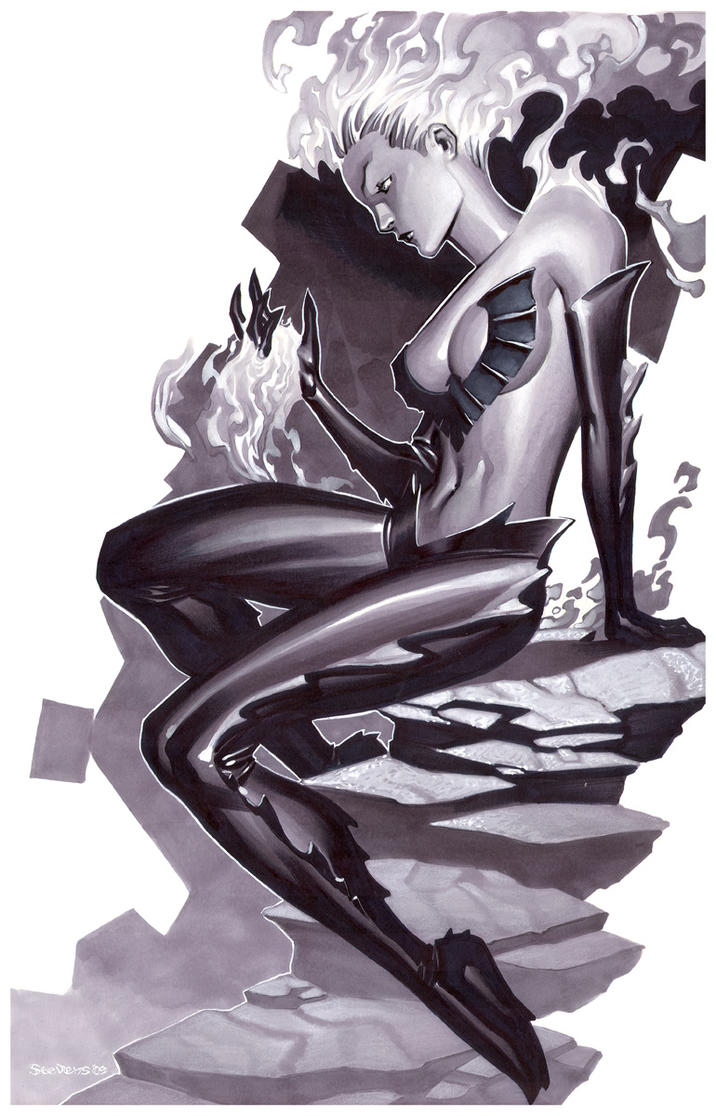 Dark Phoenix- Marker Illo by ChristopherStevens