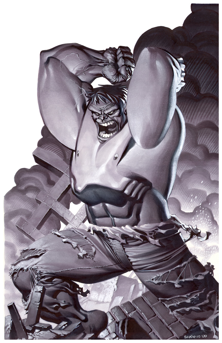 Incredible Hulk- Marker Illo