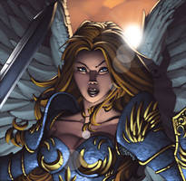 MtG Online- Serra Angel by ChristopherStevens