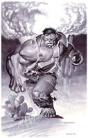Hulk Origin- Marker Illo by ChristopherStevens
