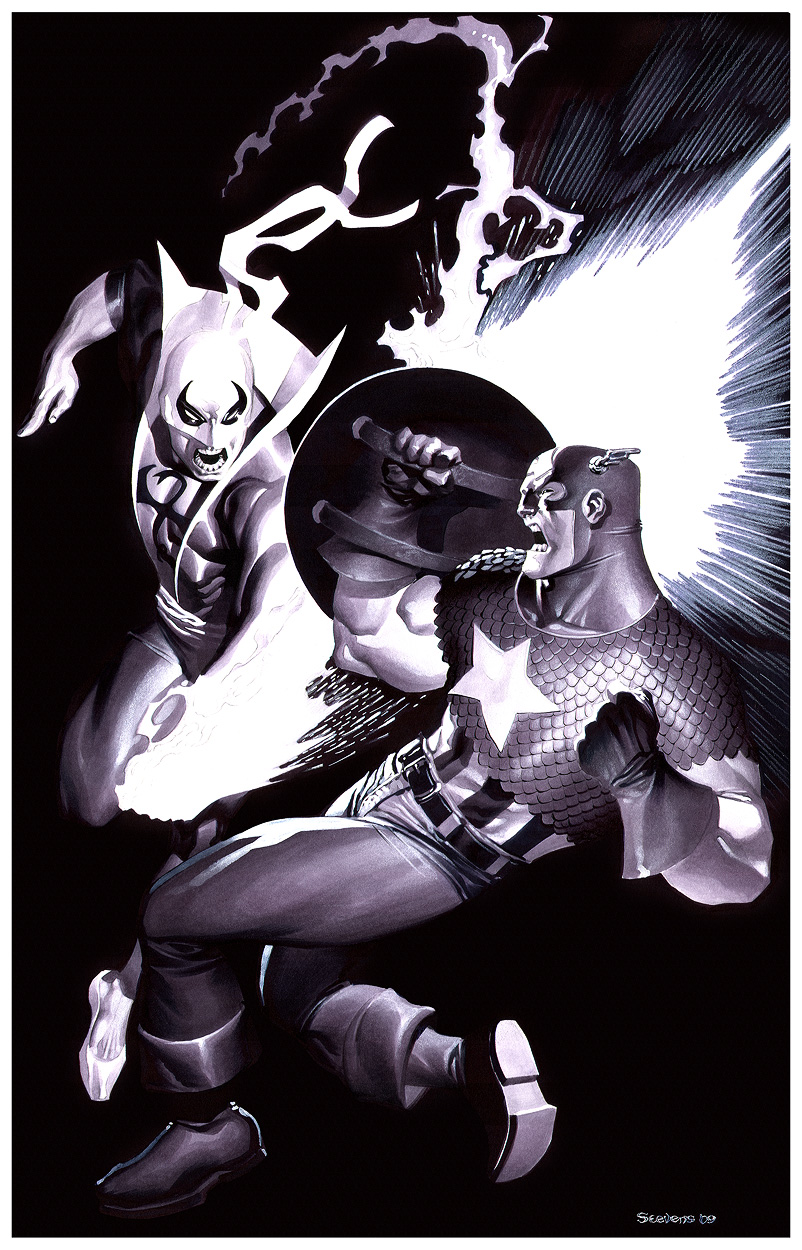 Captain America VS Iron Fist by ChristopherStevens