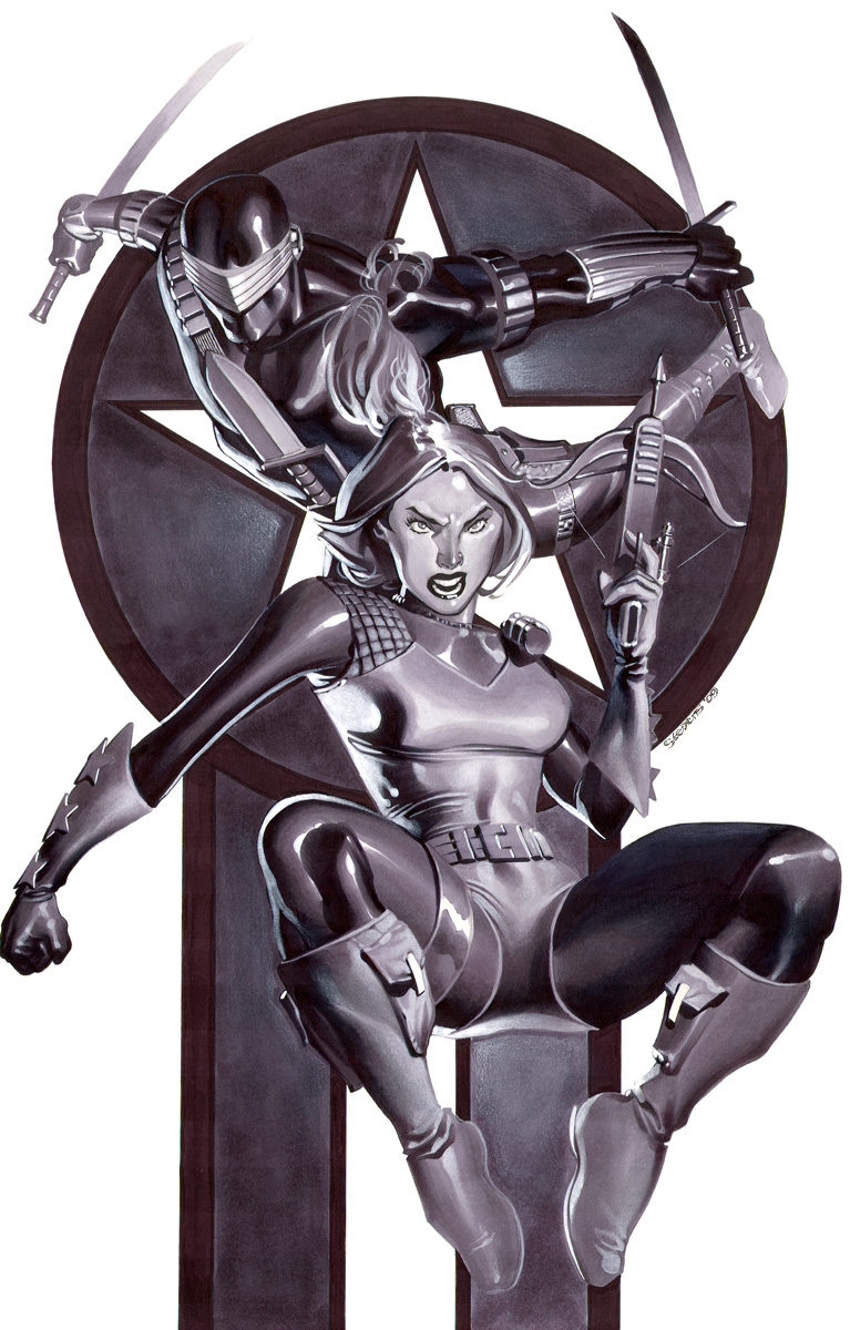 Snake-Eyes and Scarlett by ChristopherStevens
