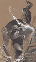 Thing vs Super Skrull by ChristopherStevens