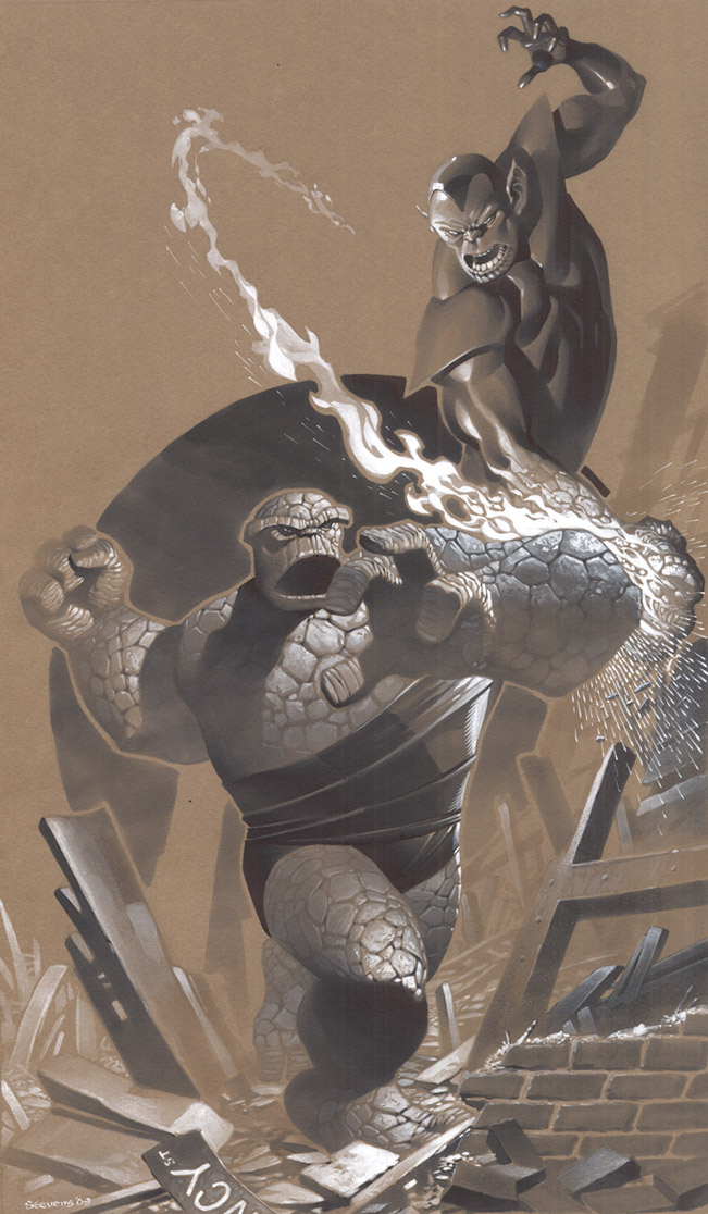 Thing vs Super Skrull by ChristopherStevens