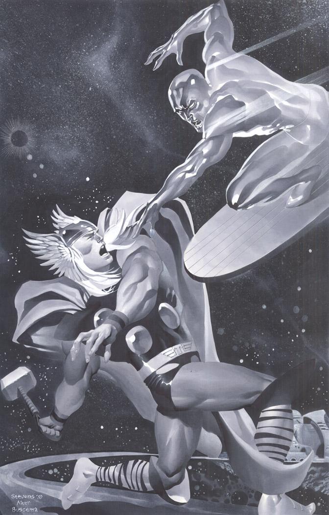 Thor vs Surfer by ChristopherStevens