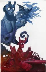 Hellboy Jr's pancakes by ChristopherStevens