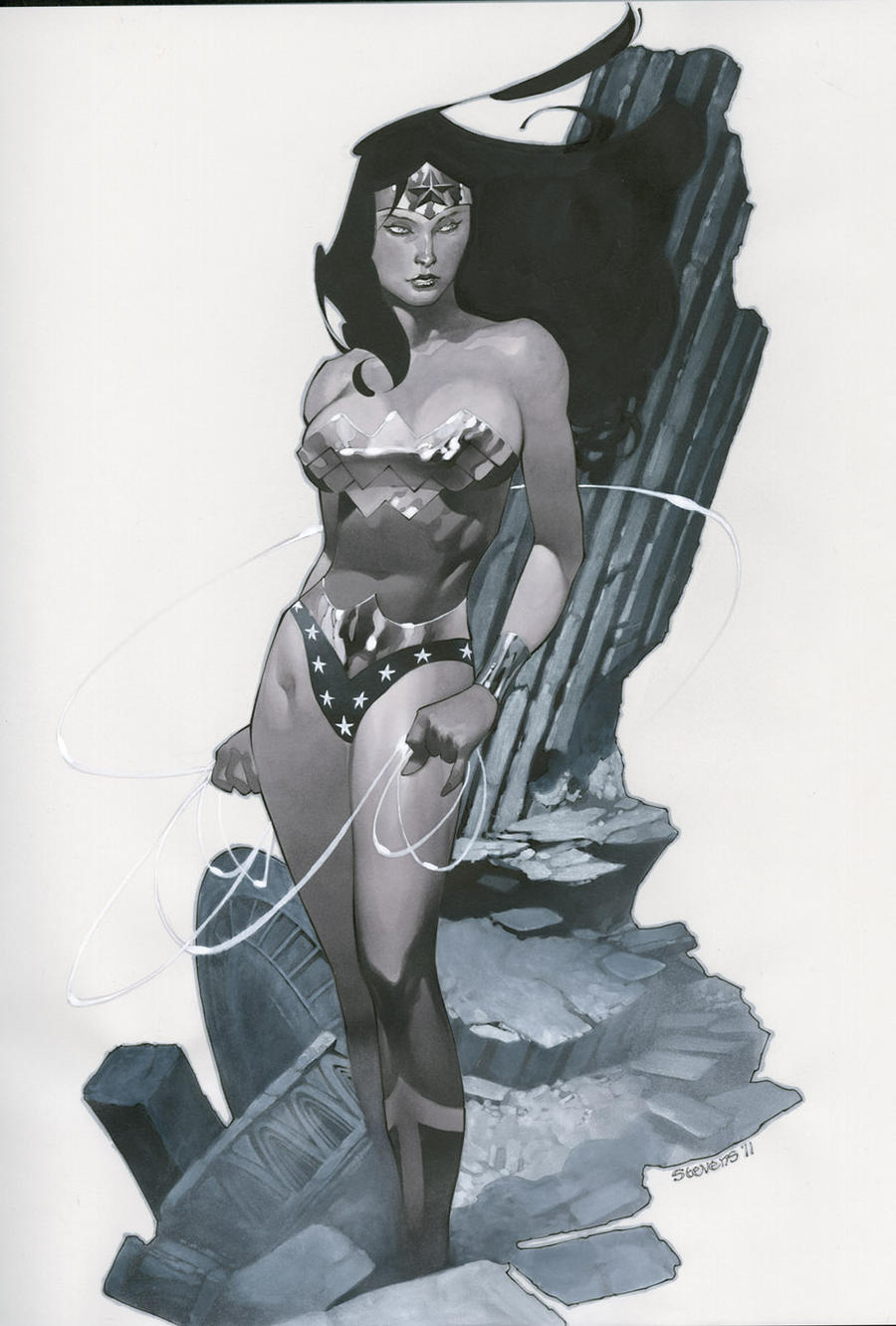 Wonder Woman sketchbook by ChristopherStevens