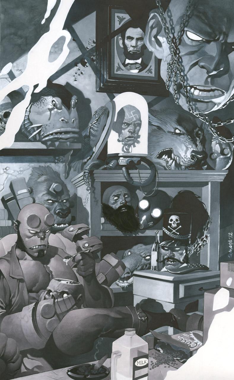 Hellboy's Trophy Room by ChristopherStevens
