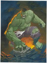Hulk oil painting