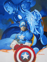 Cap and the Avengers by ChristopherStevens