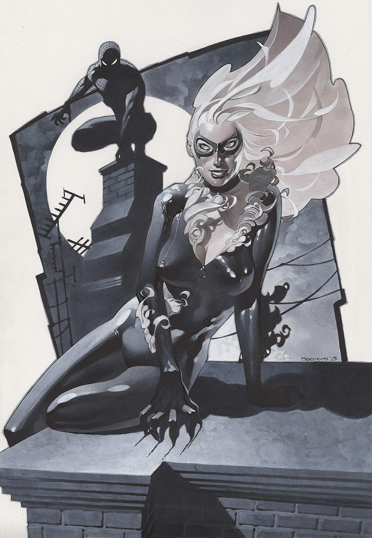 Black Cat and Spidey 2 by ChristopherStevens