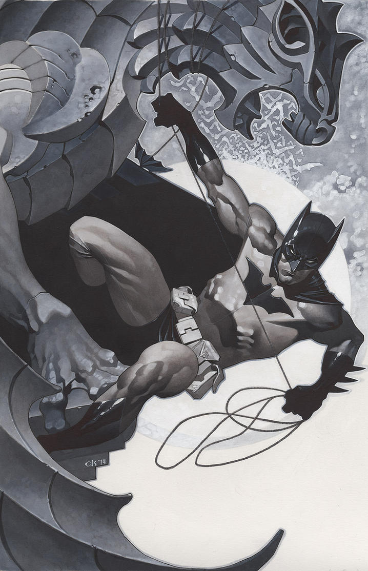 Batman Under Gargoyle by ChristopherStevens