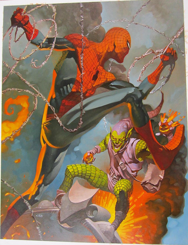 Spidey battles Gobby by ChristopherStevens