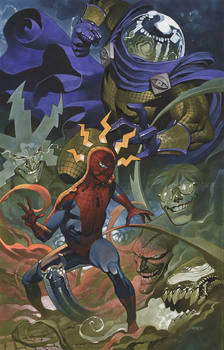 Spider Man battles Mysterio