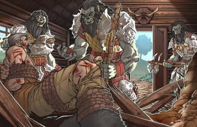 Orcs and Prisoner - Color by ChristopherStevens