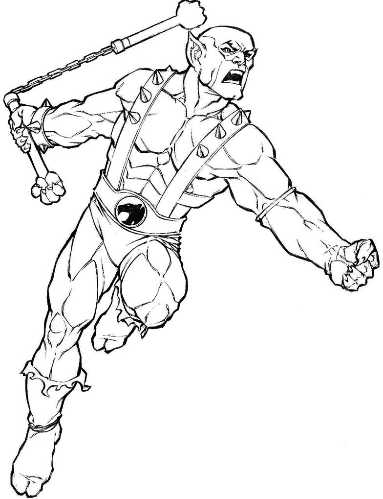 coloring images of panthro thunder cats coloring pages