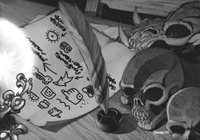 Exalted 2nd Ed- Skull Diary by ChristopherStevens