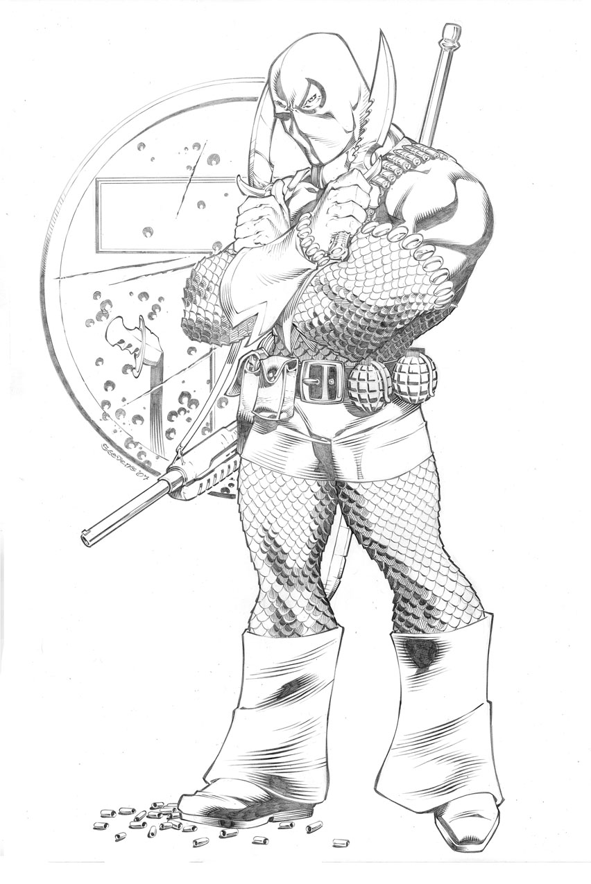 coloring pages of deathstroke costume - photo#8