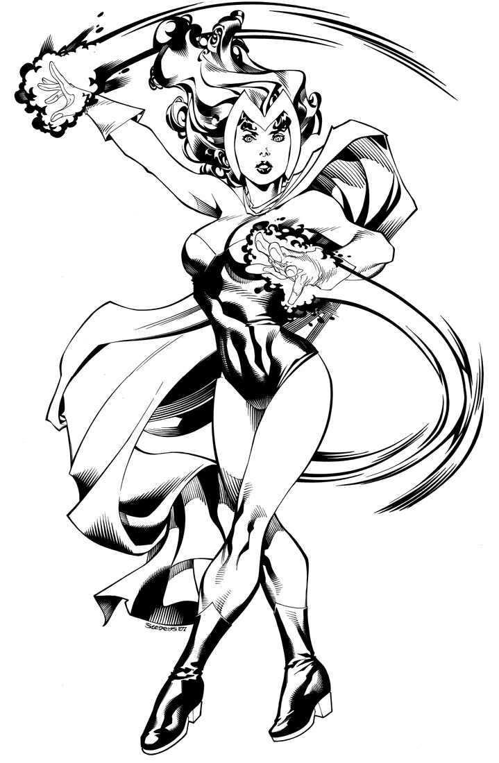 enchantress marvel coloring pages - photo#36
