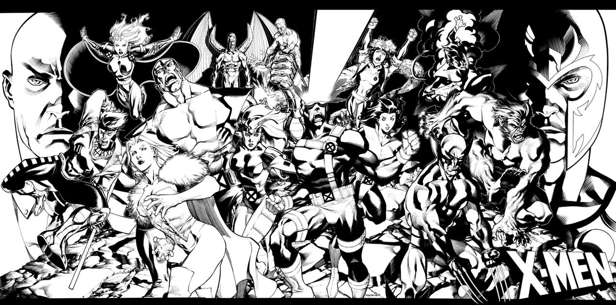 X-Men Team Pin-Up by ChristopherStevens