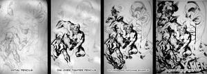 X-Men Ink Progression 1