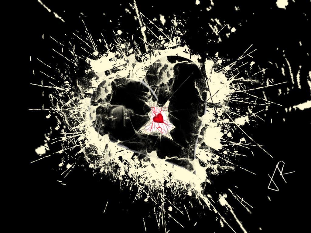 Broken heart-black version by radu20092000 on DeviantArt