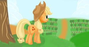 Applejack at sweet apple acres by pukihontasz