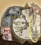 Weasley clock and owls
