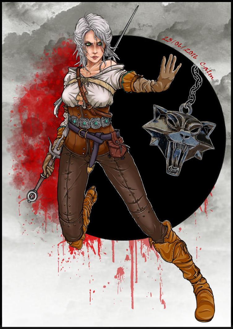 Ciri Witcher3 by myngorad