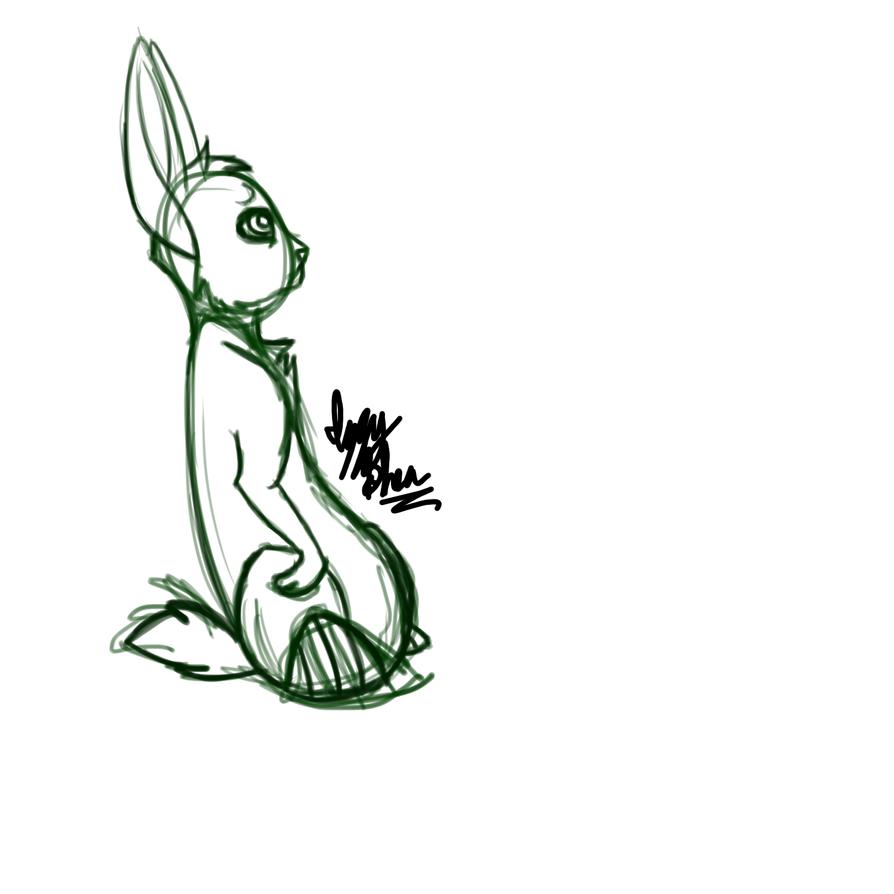 random rabbit by IzzyShea