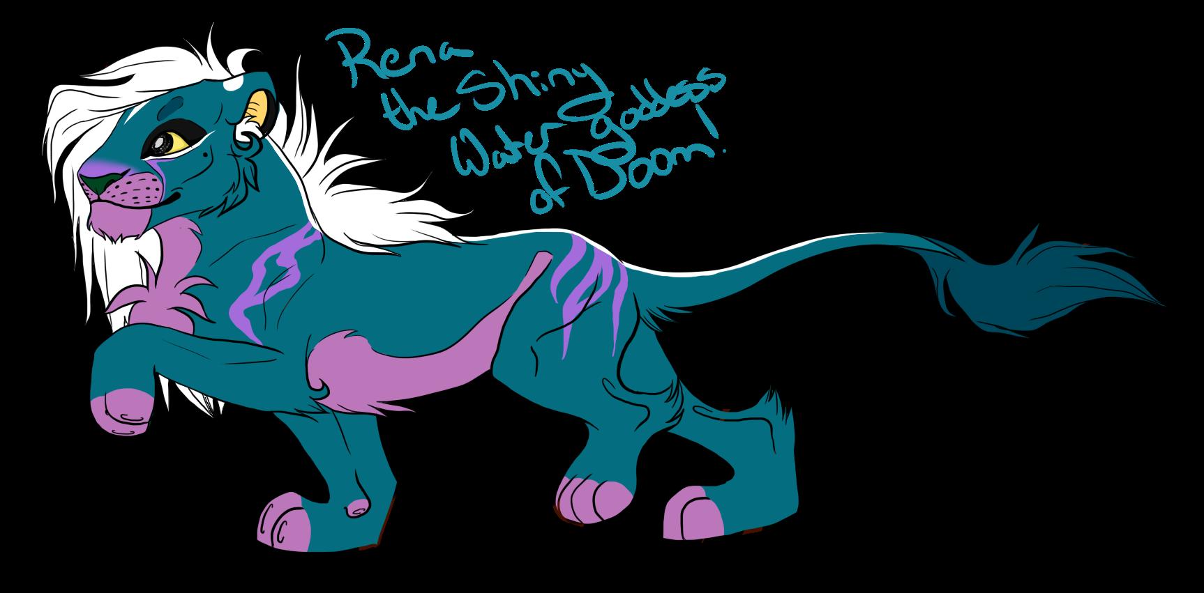 Rena the Shiny Water Goddess of Doom! by IzzyShea