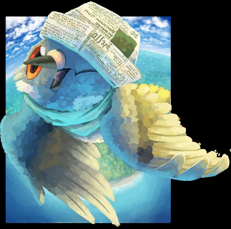 wow I'm a bird! let's go into orbit. by mercurybird