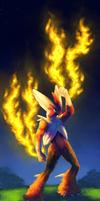 the fire in the sky! by mercurybird
