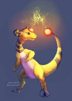 day 4, favorite electric type: ampharos