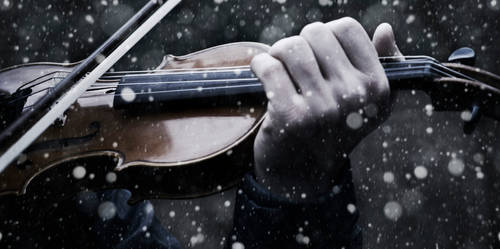 Violin in the snow II by v4lkyr