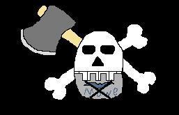 Axe-Hand Pirates' Flag by Hotspot0626