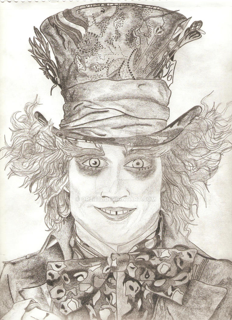 Tim Burton's Mad Hatter by orlie12 on DeviantArt